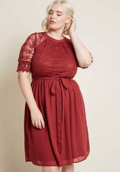 b60f6caabb There s no better reason for flaunting this burgundy dress than the pure  desire to do just that! From our ModCloth namesake label