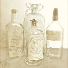 APOTHECARY (sepia version) Antique medicine bottles add a subtle touch of rustic romance to the bathroom or kitchen. Fine art sepia photography with a soft vintage grunge texture applied for a bit of old world elegance.  PRINT SIZE: 8x8, 8x10, 10x10, 11x14, 12x12, 16x16, 16x20, 20x20 {choose from drop-down menu} Need a different size? http://etsy.me/27HUOnh  Need it on canvas? http://etsy.me/1wb2Qkh  Save on sets or create your own: http://etsy.me/1j9Dltv  DETAILS: *Unmatted and unframed…