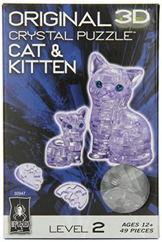 Original 3D Crystal Puzzle - Cat & Kitten Clear ** Be sure to check out this awesome sponsored product.