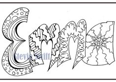 Coloring Pages Of The Name Emma | Coloring Pages