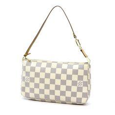 ecda648c5f Louis Vuitton Pochette Accessoires Damier Azur Small bags White Canvas  N51986