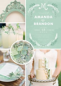 Mint  Inspiration #Mint/ pastel green Wedding Reception ... Wedding ideas for brides, grooms, parents & planners ... https://itunes.apple.com/us/app/the-gold-wedding-planner/id498112599?ls=1=8 … plus how to organise an entire wedding ♥ The Gold Wedding Planner iPhone App ♥