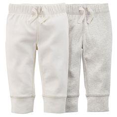 Baby (NB-9M) Carter`s 2pk. Neutral Pants