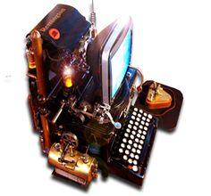 Steampunk Word Processor Icon MkV