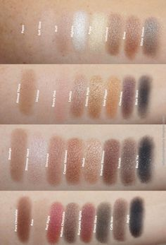 Swatches of Makeup Revolution Ultra Professional Eyeshadow in Flawless