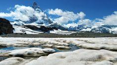 Smeltende Sneeuw bij de Matterhorn