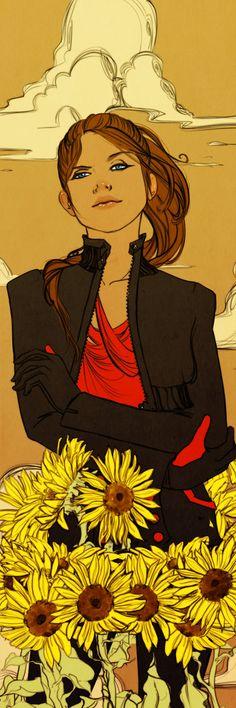 Lena Bookmark Commission by Newsha-Ghasemi.deviantart.com on @deviantART