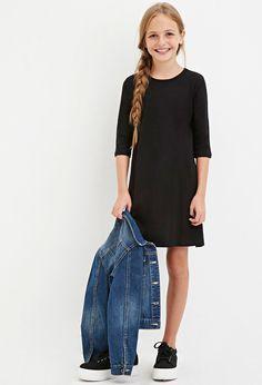 Girls Heathered T-Shirt Dress (Kids)