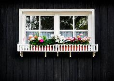 white green flower black house residential structure window Gortincoiel photocase creative stock photos