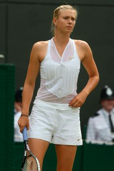 The Story Of Wimbledon Fashion Told In 15 Photos   Marie Claire.Maria Sharapova, 2008 Maria chanpioned Nike's tuxedo-style tennis attire, which (thankfully) never took off in the mainstream.