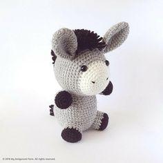 PATTERN: Crochet donkey pattern Amigurumi donkey pattern