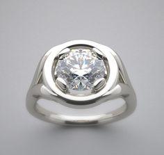 Rings Cool, Unique Rings, Beautiful Rings, Engagement Ring Settings, Vintage Engagement Rings, Diamond Engagement Rings, Halo Engagement, 14k Gold Ring, Sterling Silver Rings