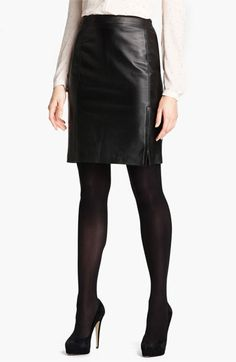 DKNYC Leather Pencil Skirt available at #Nordstrom 349