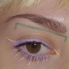 Lavendar eyes and yellow details. //pinned by: glitterbonfire.weebly.com