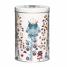 Iittala Taika White Tin An organizing essential that is both beautiful and versatile, the iittala Taika (Magic) Tin features the enchanting artwork of Klaus Haapaniemi.