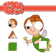 Cut and glue worksheet Games For Kids, Activities For Kids, Printable Shapes, Color Puzzle, Paper Games, New Puzzle, Collage, Baby Education, Color Activities