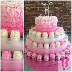 Cake & Push Pop Cake Stand! #lovepink - @Miriam Edwards Edwards Milord