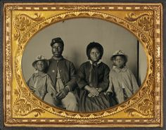 Black soldier's family: Changing America: The Emancipation Proclamation, 1863, and the March on Washington, 1963 Exhibitions   National Museum of African American History and Culture