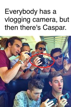 Casper just doesn't gaf about vlogging cameras<< oh my gosh look at Connors face