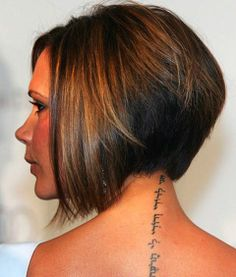 Victoria Beckhams tattoo translates to an old Hebrew saying, ��I am my beloved��s and my beloved is mine.�� Body Art   tattoos picture victoria beckham tattoo