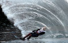 Sandro Ambrosi of Mexico competes in the men's slalom waterski at Toronto 2015 Pan Am Games (Photo by Ezra Shaw) | #sport #photography #waterski