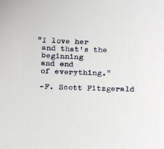 F. Scott Fitzgerald quote typed on a vintage typewriter