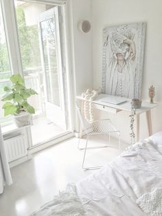 My bedroom workspace..luuv to work on sunny day's with open balcony doors