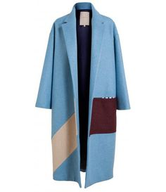 Browns Fashion - Felted Wool Colour Block Coat