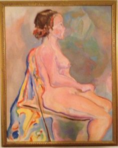 NUDE PAINTING /MID CENTURY MODERN/STYLE OF PICASSO,APPEL,DALI,SOYER,KADAR,LHOTE #Cubism