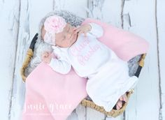 Baby Girl Clothes  Baby Girl Coming Home Outfit Baby Girl Gift Baby Girl Outfit Newborn Baby Girl Outfit Baby Girl Gown Personalized Gift by juniegrace on Etsy https://www.etsy.com/listing/486692043/baby-girl-clothes-baby-girl-coming-home