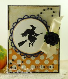 Inspired by Stamping, Joanna Munster, Tricks & Treats stamp set, Halloween Card