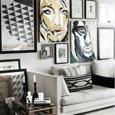 Kreo home Black and white interior