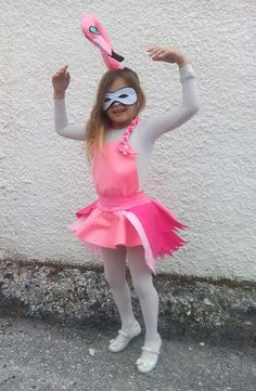 Flamingo costume is so cute for a little girl that loves to look like a balarina!! Thought it can look sexy if it needs to fit a lady!! Flamingo costume comes with a lovely band, Every little piece of this costume has been made with love and great inspiration. The materials that we