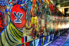 A large mural in Chicano Park located in San Diego California under the Coronado Bay Bridge. Photo by Paul W. Koester.