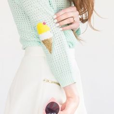 Make these cute ice cream cone elbow patches!