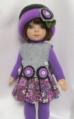 """PATSY'S COLORFUL FALL FLOWERS! FOR 10""""ANN ESTELLE, ETC.MADE BY SSDESIGNS"""