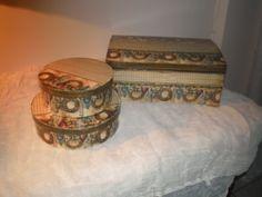 Διακοσμητικά-αποθηκευτικά κουτιά φτιαγμένα με decoupage