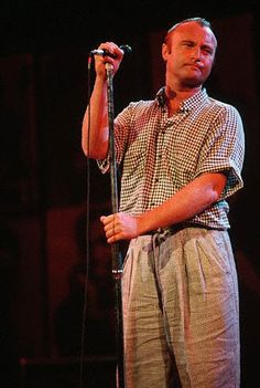Singer Phil Collins of Genesis performs at the Atlantic Records 40th Anniversary Party in Madison Square Gardens. May 1988 Manhattan, New York, New York, USA