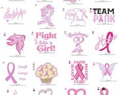 Breast Cancer Awareness Embroidery Collection by BatmansEmbroidery