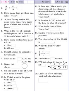 Search Results for Mental math grade 3 6th Grade Worksheets, Grade 6 Math, 3rd Grade Math Worksheets, Free Printable Math Worksheets, Math Test, Grade 3, Math Math, Multiplication, Math Olympiad