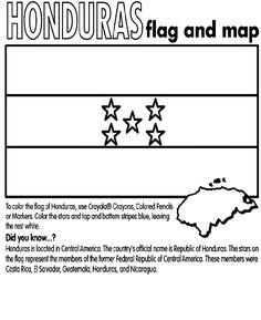 honduras country coloring | Honduras coloring page