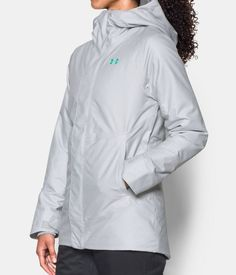 Women's UA ColdGear® Infrared Powerline Insulated Jacket, GLACIER GRAY