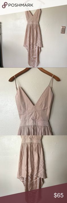 Emerson Thorpe nude dress New without tags size XS 100% silk emerson thorpe Dresses High Low