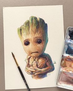 Baby Groot by Leow Drawing Class