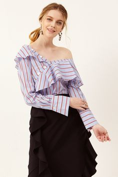 Keira One Shoulder Blouse Discover the latest fashion trends online at storets.com