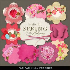 New Freebies Kit of Labels - Spring Bloom:Far Far Hill - Free database of…