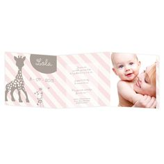Faire part naissance Sophie la girafe, disponible sur faire-part-edition.fr/naissance