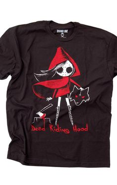 red riding hood tshirt, dead riding hood, alternative fairytale, goth fairytale, alt fashion, kawaii goth