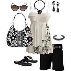 black and white outfit :)
