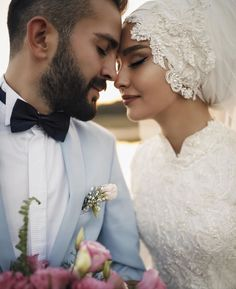 Independent, proud, inventive. Hijabi Wedding, Wedding Hijab Styles, Muslimah Wedding Dress, Muslim Wedding Dresses, Muslim Brides, Wedding Couple Poses Photography, Wedding Poses, Wedding Couples, Wedding Bride